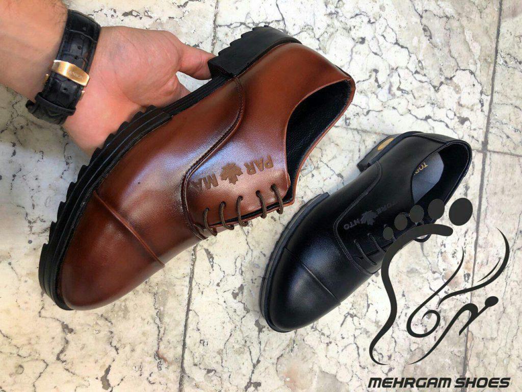 کفش مردانه چرم آفاق تبریز با مدل جدید
